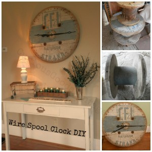 Wire Spool Clock How To